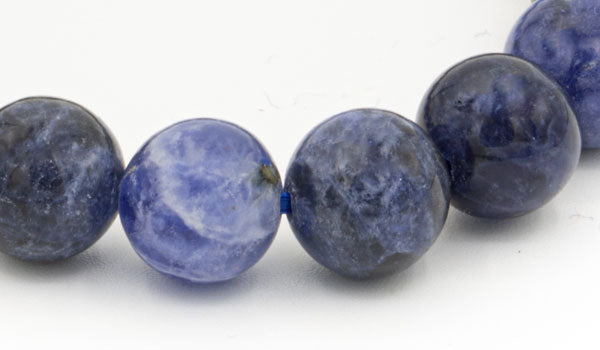 Sodalite 10mm gloss natural stone bracelet close up