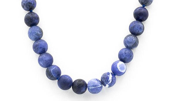 Sodalite matte natural stone necklace