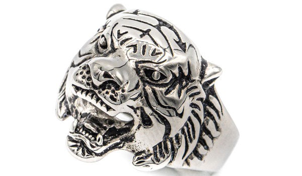 tiger face ring