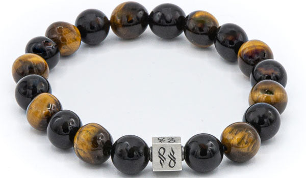 Tigers Eye & Onyx Natural Gemstone Centerpiece Set