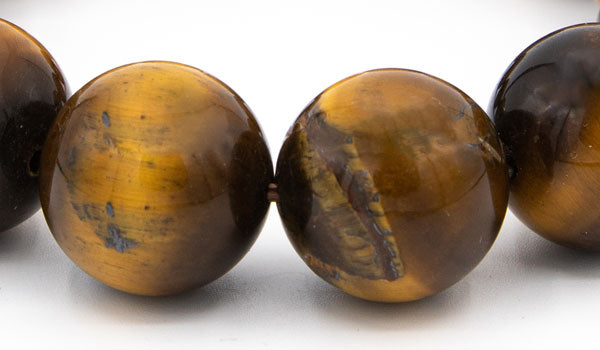 Alt= Tigers Eye 18mm Gemstone Beads