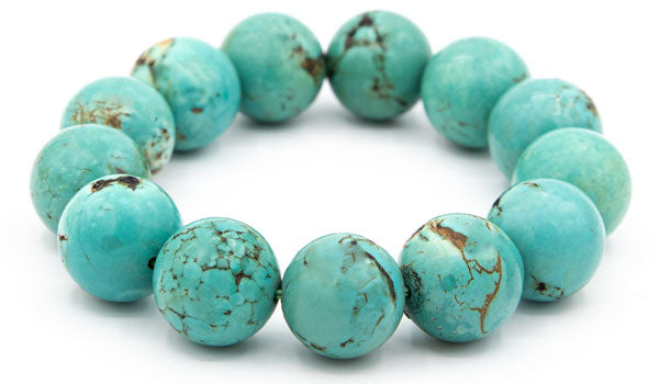 Alt= 16mm Tibetan Turquoise Natural Gemstone Bracelet