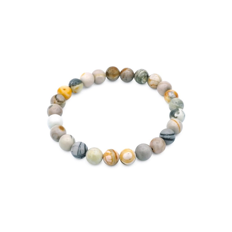 Tiger Eye & Black Lava 8mm Natural Stone Bracelet