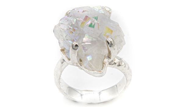 Sterling Silver Aurora Quartz Adjustable Ring second img