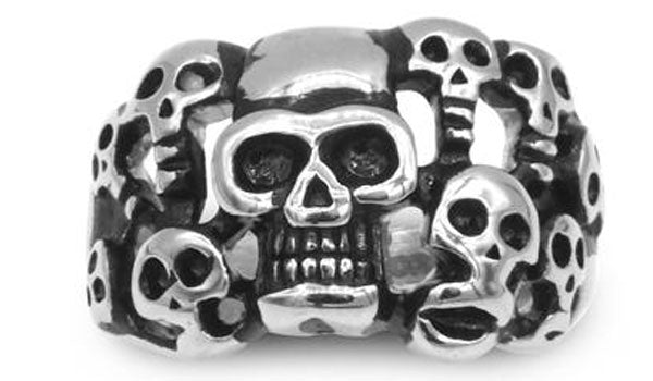 Assorted skull head ring second img