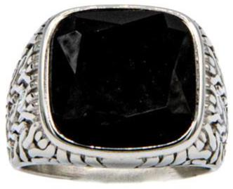 Black tourmaline ring close up