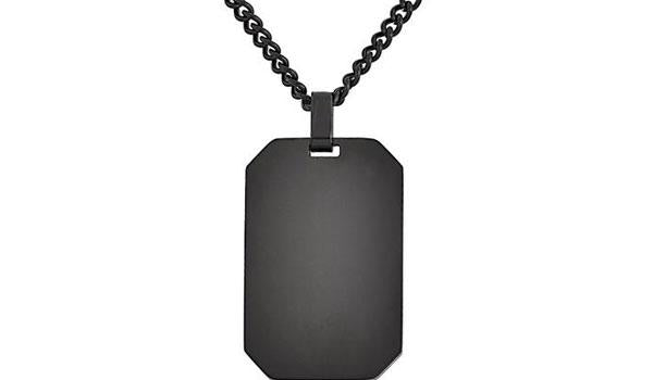 BlackDog Tag Pendant Necklace Feature img