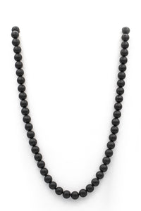"<img src=""blk onyx-NSB-neck-8mm,10mm-30'' "" alt="" Black Tourmaline Natural Stone Necklace 8mm- 10mm in thirty inches"">"