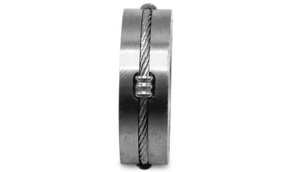silver single cable wire ring second img