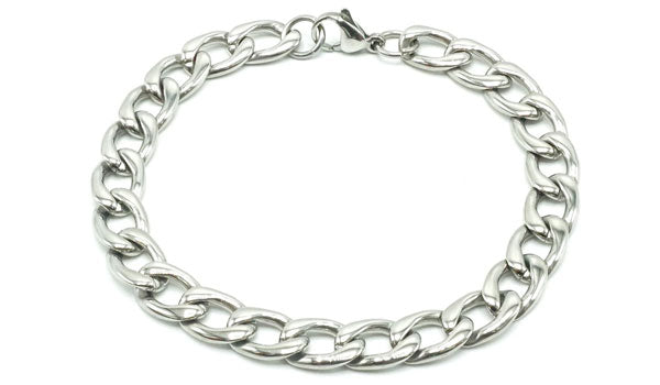 silver chain link bracelet feature img