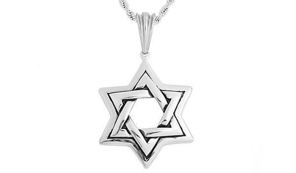 Silver Star of David Pendant Necklace feature img
