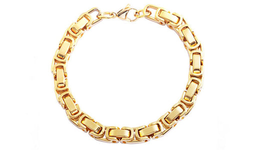 Gold Bike Chain Bracelet feature img
