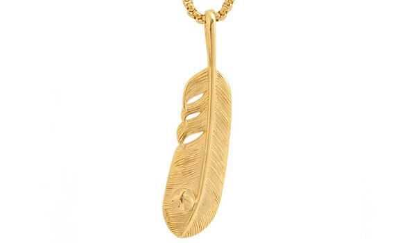 Gold Leaf Pendant Necklace feature img