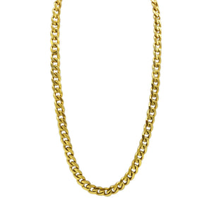 gold stainless steel 24'' curb chain necklace ( 4mm )