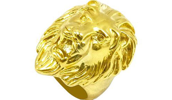 Gold lion ring second img