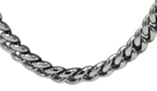 Silver Gourmette chain close up img