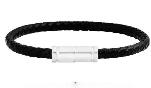 Silver Braided Leather Bracelet feature img