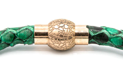Green python bracelet feature img clasp img