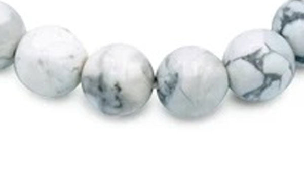 Howlite 10mm natural stone bracelet close up img