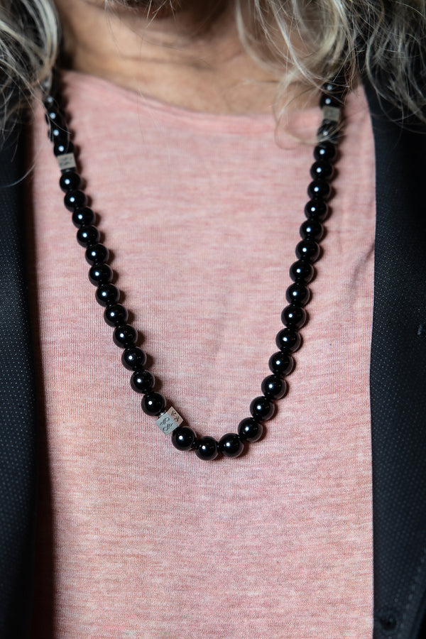 Onyx Natural Gemstone Centerpiece Necklace