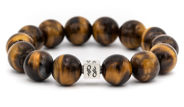Tigers Eye Natural Gemstone Centerpiece Bracelet
