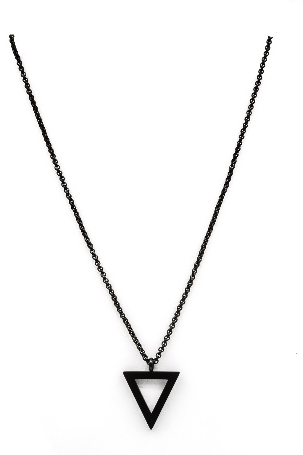 Black Chalice Pendant Necklace