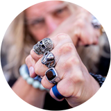 Sitting Snake Ring (High-Grade 316L Stainless Steel)