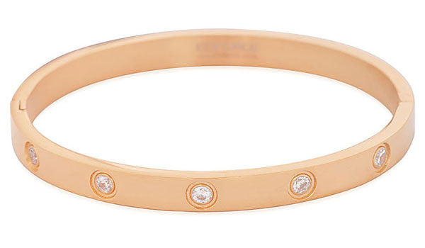 Rose gold austrian crystal bracelet feature img