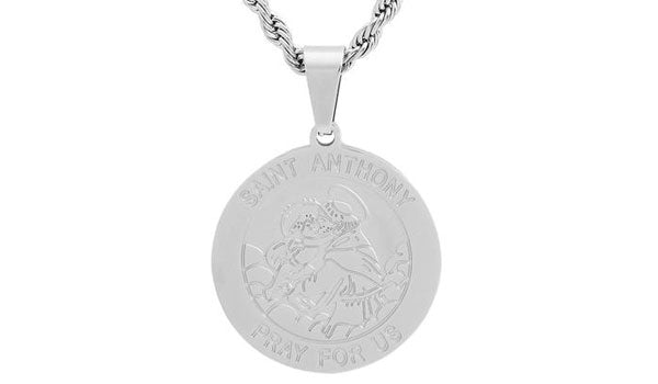 silver saint anthony necklace feature img