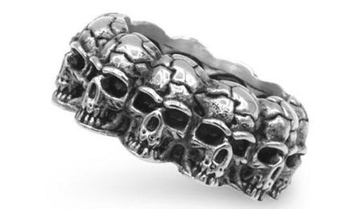 silver skull band ring feature img