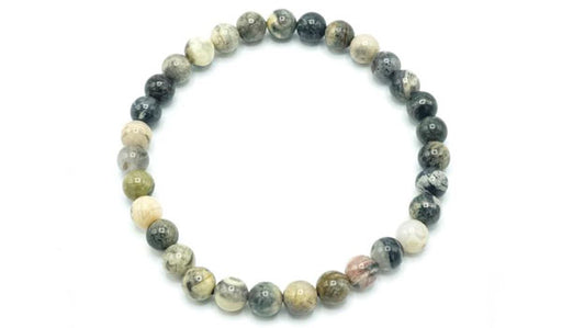 silver leaf jasper 6mm natural stone bracelet feature photo
