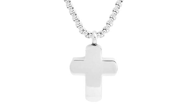silver cross necklace feature img
