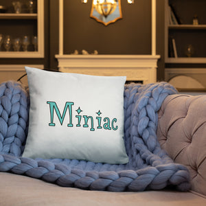 Miniac Throw Pillow: Roller Skates