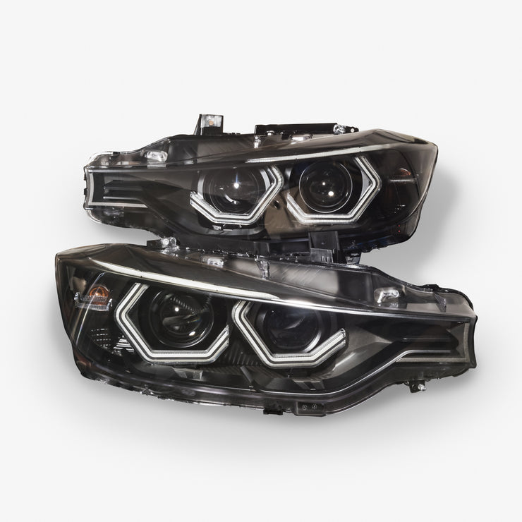 F30 Halogen Projector Vision Headlights (Complete Units, No Core Required)