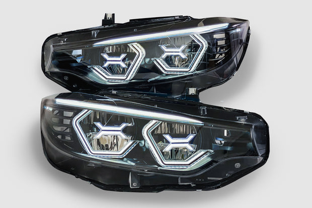 PRE-BUILT F80 M3 F82 F83 M4 F32 F36 Vision Concept Headlights With Blue Concept X (LED Headlights Only)