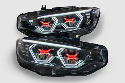 PRE-BUILT F80 M3 F82 M4 F32 F36 Vision Concept Headlights With Red Concept X (LED Headlights Only)