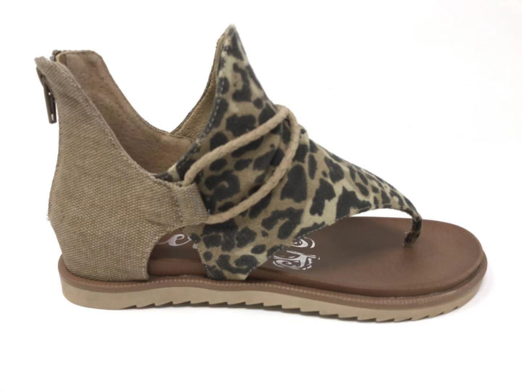 Very G Sparta Tan Leopard Print Sandals