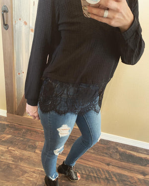 Thermal & Lace Long Sleeve