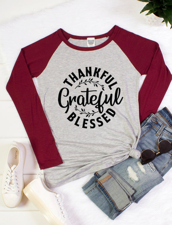 THANKFUL GRATEFUL BLESSED LONG SLEEVE