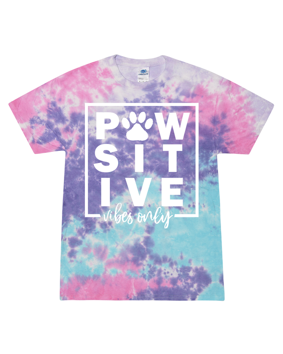 Pawsitive Vibes Tie Dye - Retired