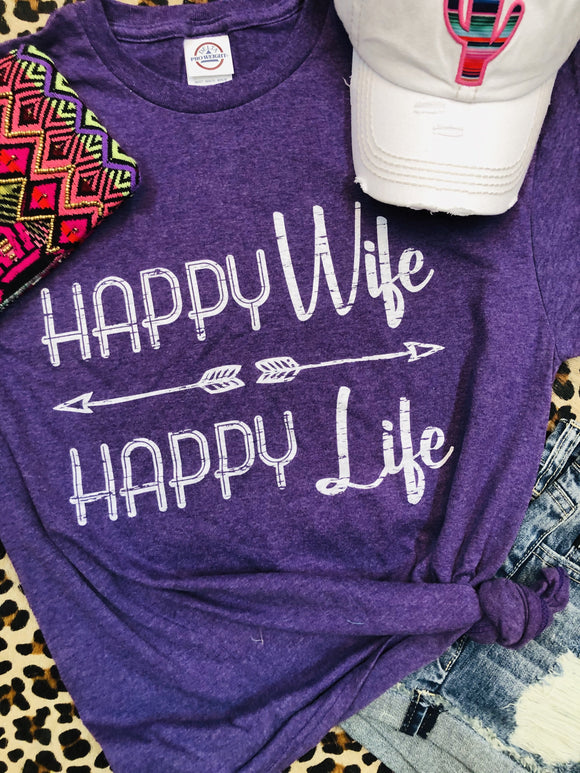 Happy Wife Happy Life Tee