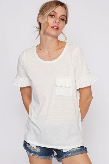 The Addison Ruffle Sleeve Tee