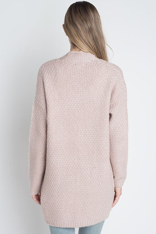 The Emma Cable Cardigan (mauve) *LOW STOCK*