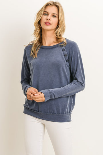 The Harper Raglan Long Sleeve Sweatshirt