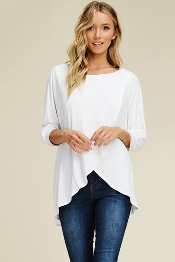 the Lizzy cross wrap front tunic top (LOW STOCK)