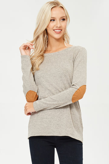 The Taylor suede elbow patch and buttons sweater