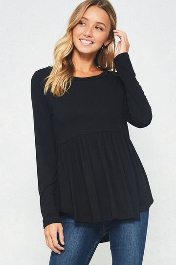 The Vanessa Peplum Long Sleeve Top