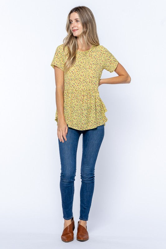 The Camila Floral Peplum Top