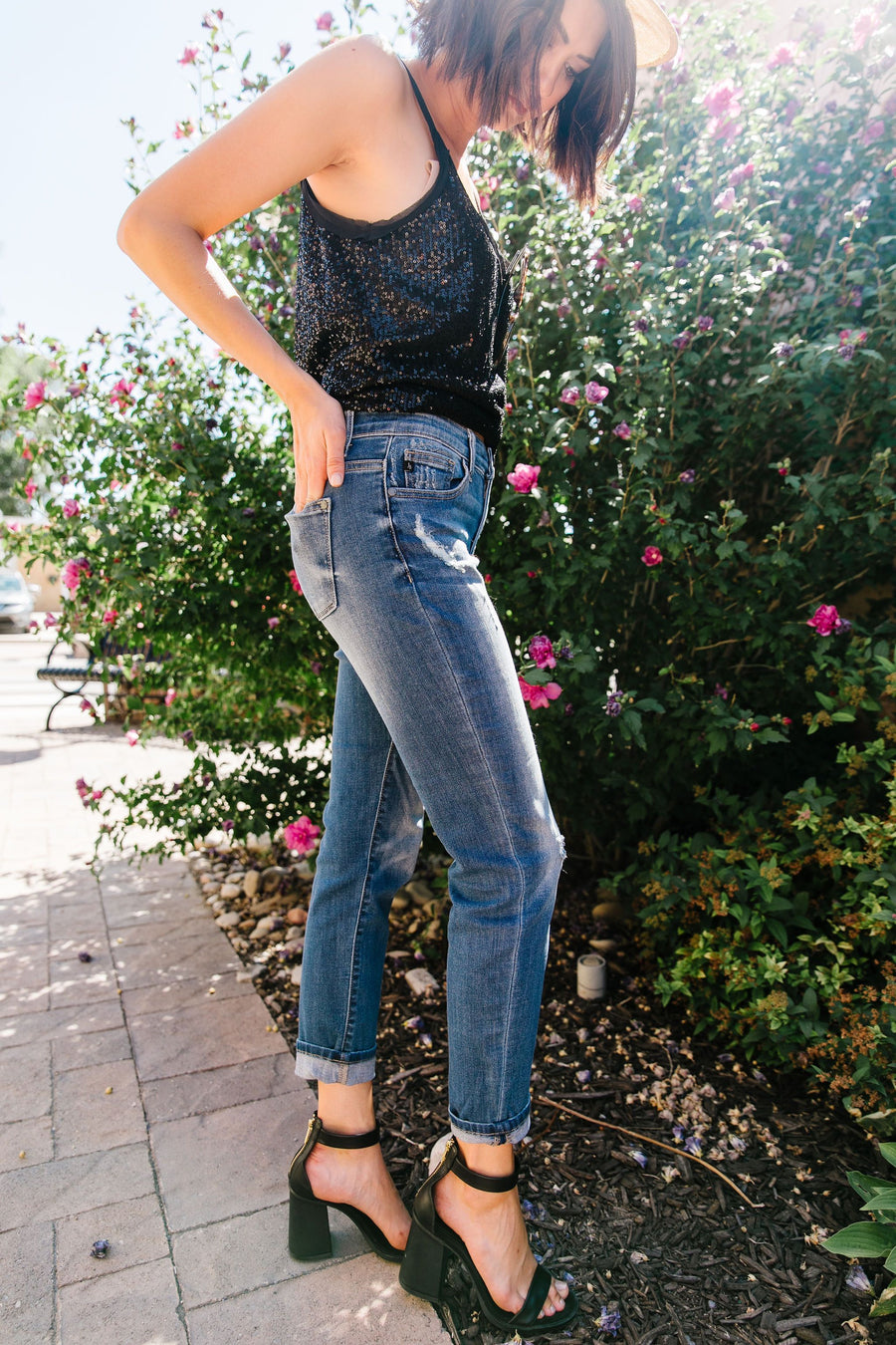 Stretchy Boyfriend Jeans