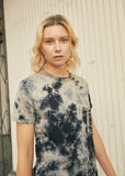 back beat co. Black Wash Tie Dye Hemp Tee